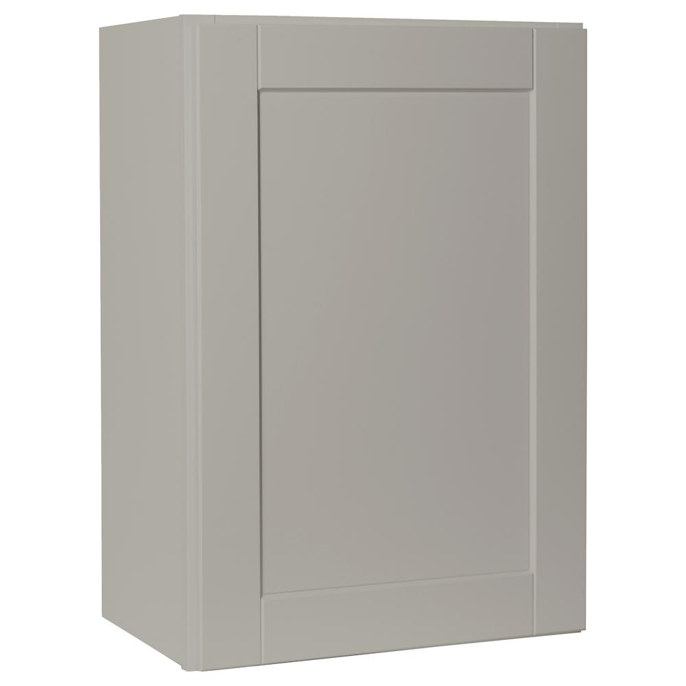 Hampton Bay Shaker Assembled 21x30x12 in. Wall Kitchen Cabinet in Dove Gray