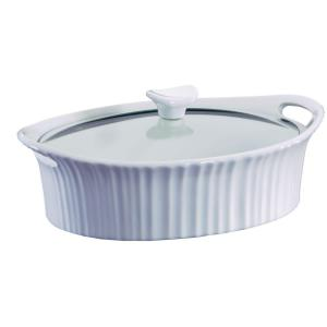 Click here to buy Corningware 2.5 Qt. Oval Ceramic Casserole Dish with Glass Cover by Corningware.