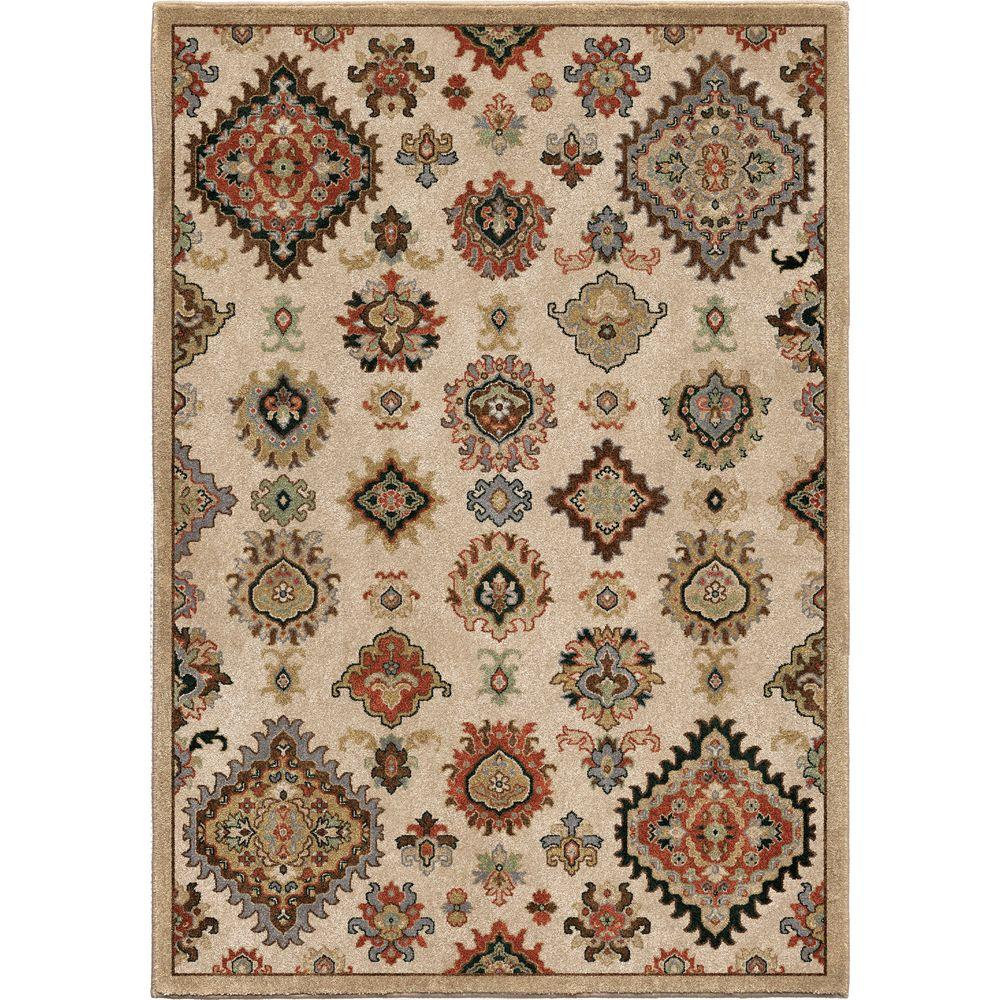 Tangier Beige Southwestern Soft 5 ft. 3 in. x 7 ft. 6 in. Indoor Area Rug