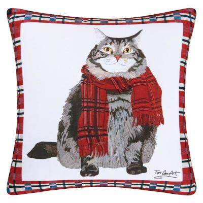 Red Fat Cat Indoor / Outdoor 18 in. x 18 in. Standard Throw Pillow