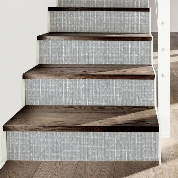 Linen Self Adhesive Shelf Liner In Grey