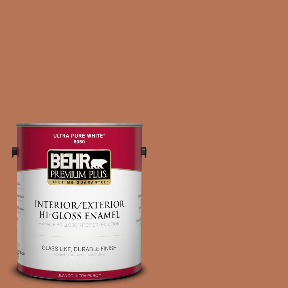 BEHR Premium Plus Home Decorators Collection 1-gal. #HDC-AC-06 Campfire Blaze Hi-Gloss Enamel Interior/Exterior Paint