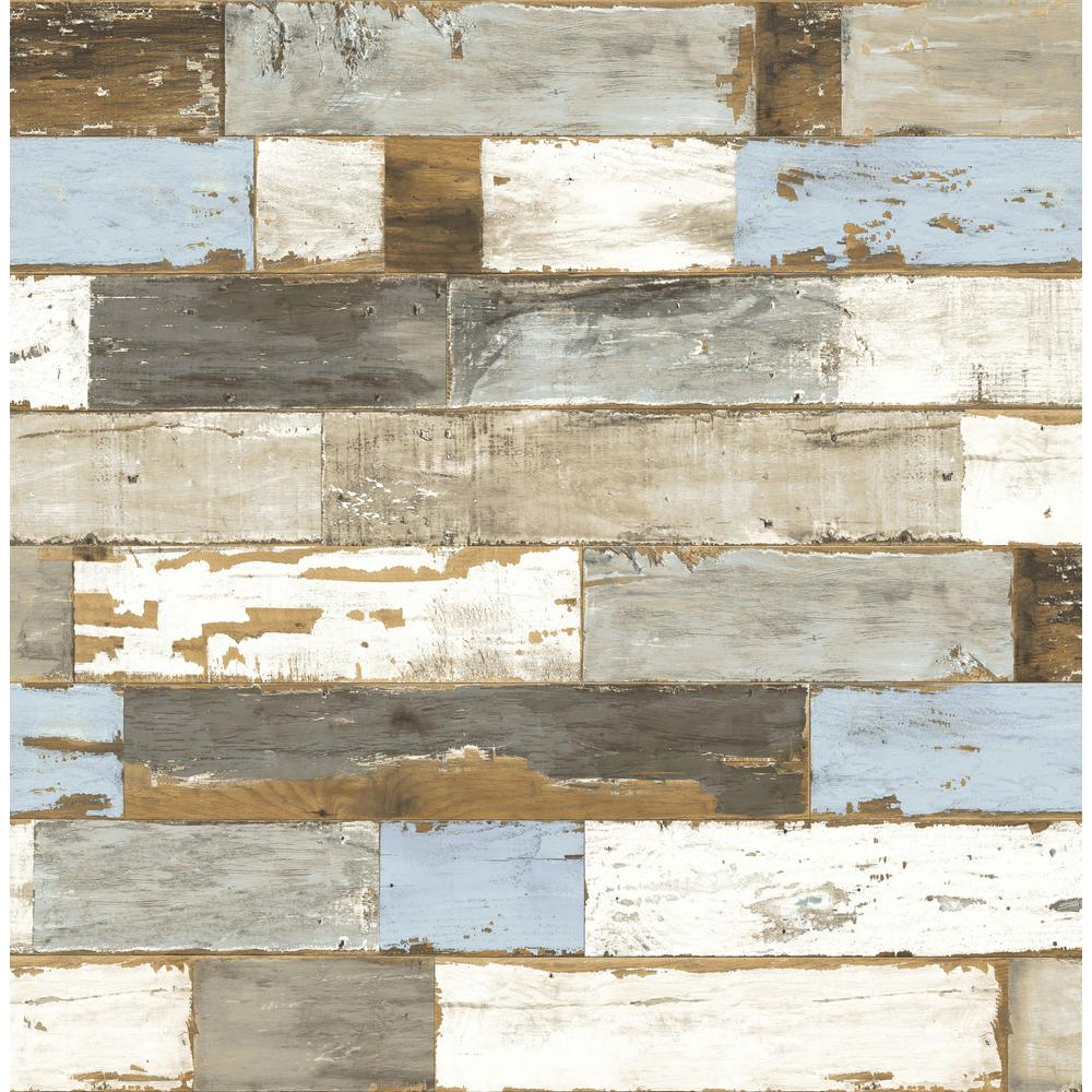 NextWall Colorful Shiplap Peel and Stick Wallpaper-NW30700 ...