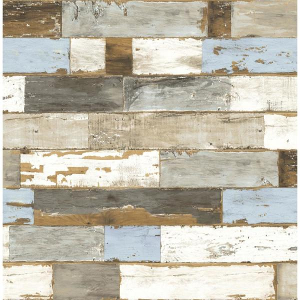 Colorful Shiplap Peel and Stick Wallpaper