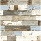 Colorful Shiplap Vinyl Peelable Wallpaper (Covers 30.75 sq. ft.)