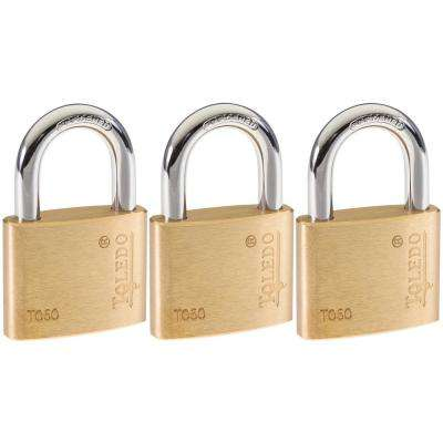Brass Keyed Padlock (3-Pack)