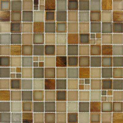 Manhattan Blend 12 in. x 12 in. x 8mm Glass Mesh-Mounted Mosaic Wall Tile