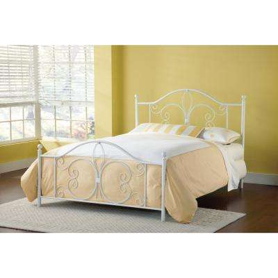 Ruby Textured White Full Bed Frame