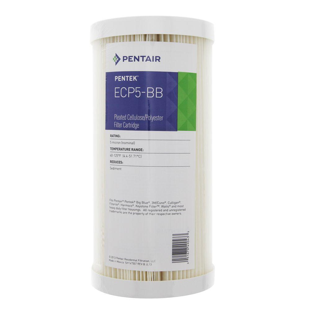 Package Of 4 9-3//4 x 4-1//2 Pentek ECP5-BB Pleated Sediment Water Filters