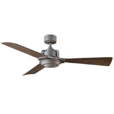 Osprey 56 in. LED Indoor/Outdoor Graphite 3-Blade Smart Ceiling Fan with 3500K Light Kit and Wall Control
