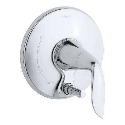 Refinia 1-Handle Wall-Mount Shower Faucet Trim Kit with Push-Button Diverter in Polished Chrome (Valve Not Included)