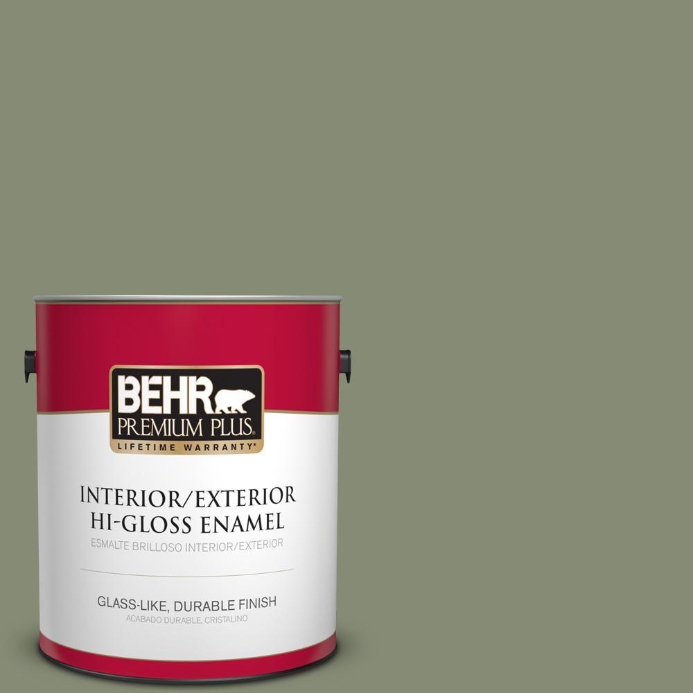 1 gal. #PPU10-17 Aloe Thorn Hi-Gloss Enamel Interior/Exterior Paint