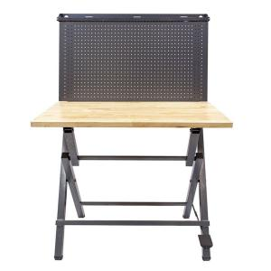 Instant 44 inch Work Bench with metal pegboard by
