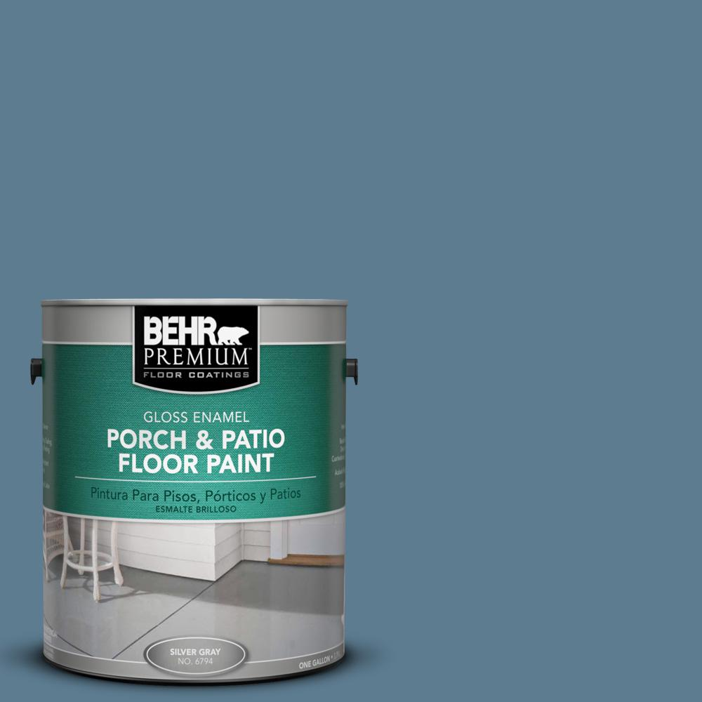 1 gal. #MS-78 Bleached Denim Gloss Porch and Patio Floor Paint