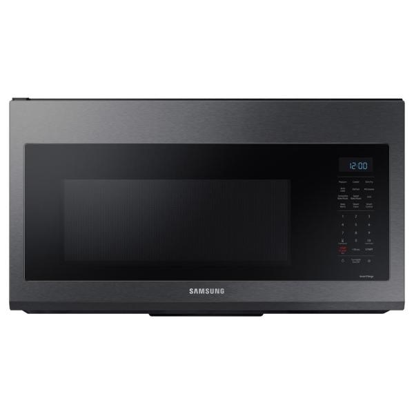 30 in. 1.7 cu. ft. Over the Range Convection Microwave in Fingerprint Resistant Black Stainless Steel