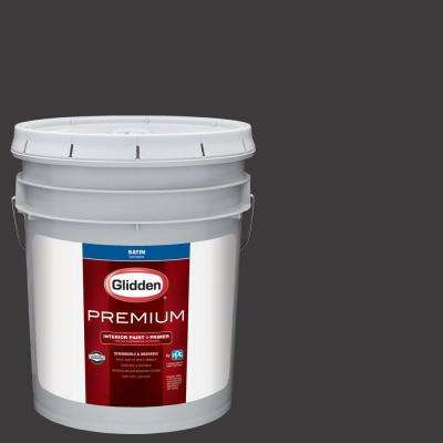5 gal. #NHL-025A Pittsburgh Penguins Black Satin Interior Paint with Primer
