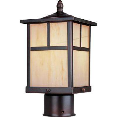 Coldwater 6 in. Wide 1-Light Outdoor Burnished Post Light