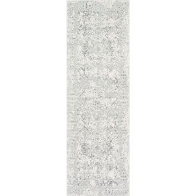 Odell Distressed Persian Ivory 3 ft. x 16 ft. Runner