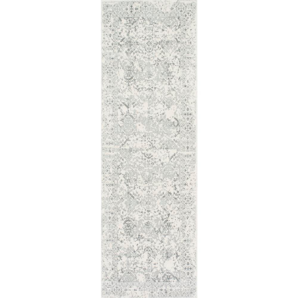 Odell Distressed Persian Ivory 3 ft. x 12 ft. Runner