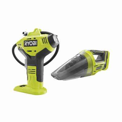 18-Volt ONE+ Cordless High Pressure Inflator with Digital Gaugewith 18-Volt ONE+ Cordless Hand Vacuum (Tools Only)