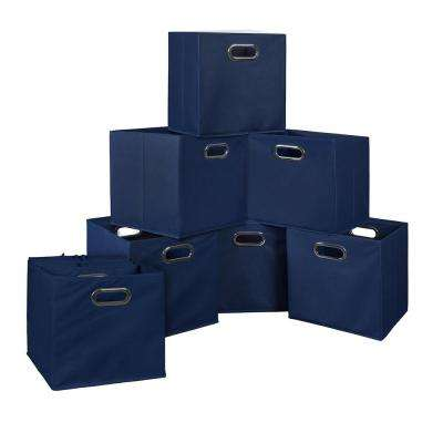 Cubo 12 in. x 12 in. Blue Foldable Fabric Bin (12-Pack)