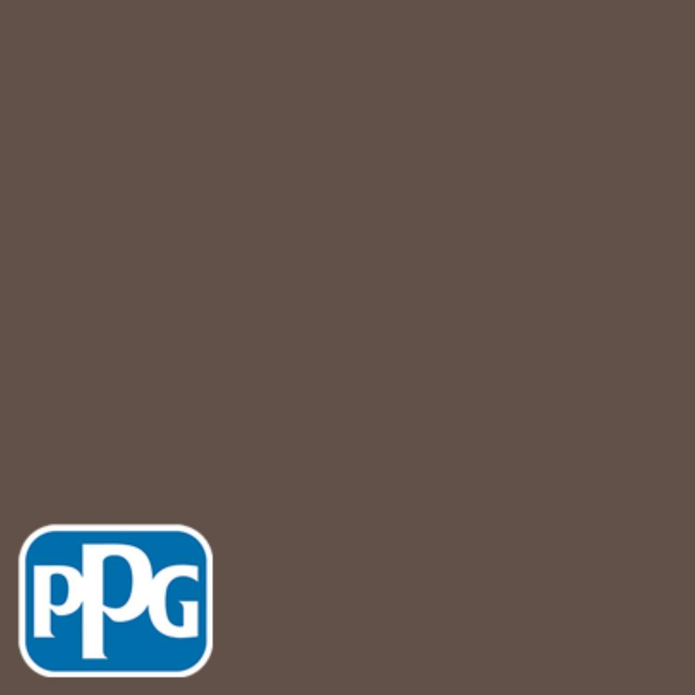 PPG TIMELESS 8 oz. #HDPPGWN13D Western Charcoal Flat Interior/Exterior Paint Sample