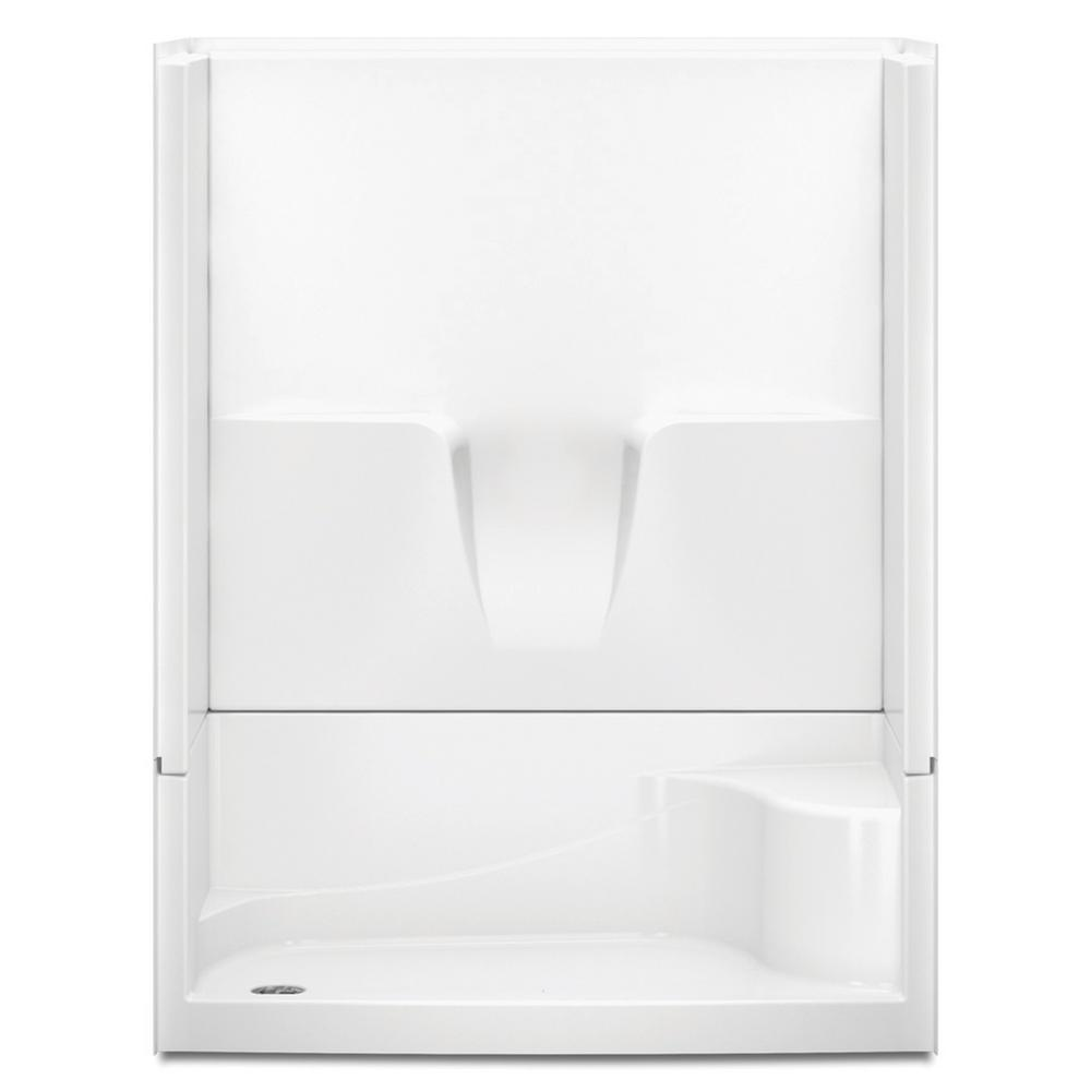 Aquatic Remodeline 60 in. x 34 in. x 76 in. 4-Piece Shower Stall ...