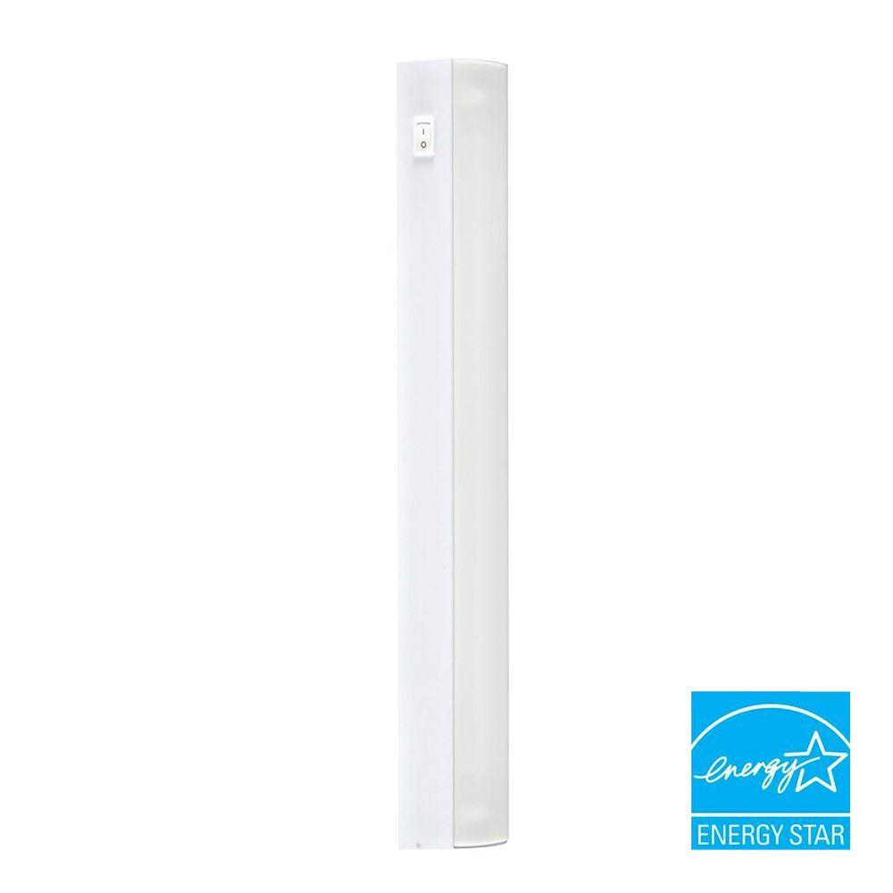 GE 1-Light White Metal Under-Cabinet Fluorescent Light