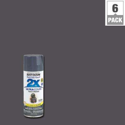 12 oz. Dark Gray Gloss General Purpose Spray Paint (6-Pack)