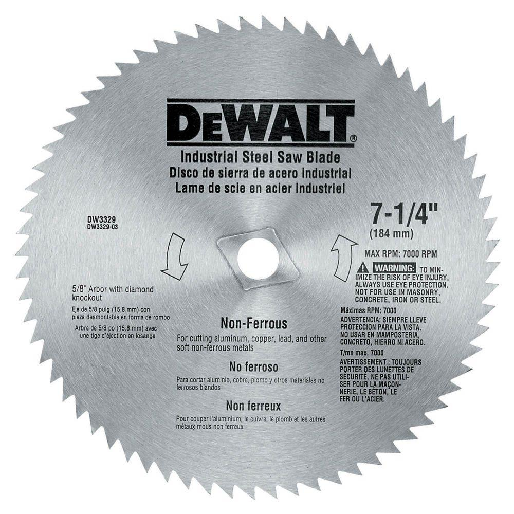 Dewalt 7 14 circular saw blades saw blades the home depot 68 teeth steel non ferrous steel saw keyboard keysfo Images
