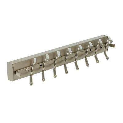 2 in. H x 14 in. W x 3 in. D Slideout Tie Rack Kit in Satin Nickel