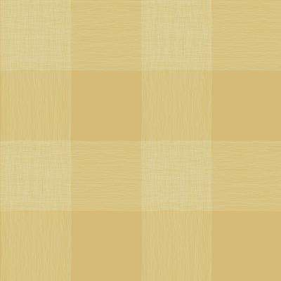 Stripes And Plaids Yellow Wallpaper Home Decor The Home Depot