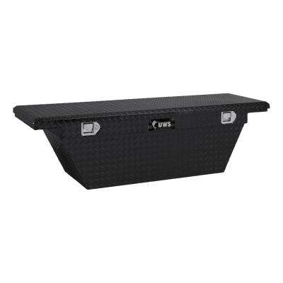 63 in. Aluminum Black Single Lid Crossover Tool Box with Deep Angled Low Profile