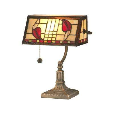 13.5 in. Antique Brass Henderson Bankers Accent Lamp