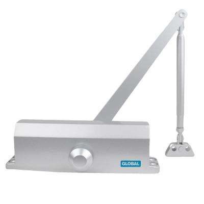 White Size 4 Commercial Door Closer with Regular Arm Bracket