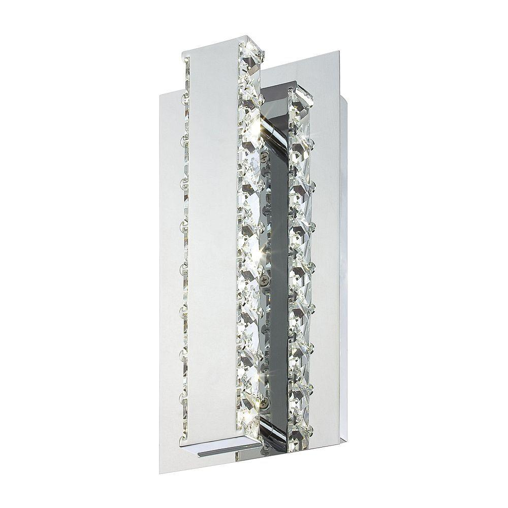 Eurofase Cronos 6-Light Chrome LED Wall Sconce