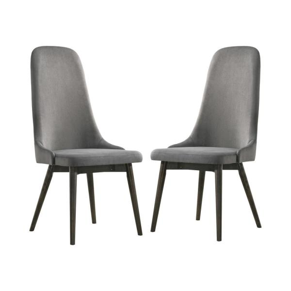 Darah Dark Gray and Gray Side Chairs (Set of 2)