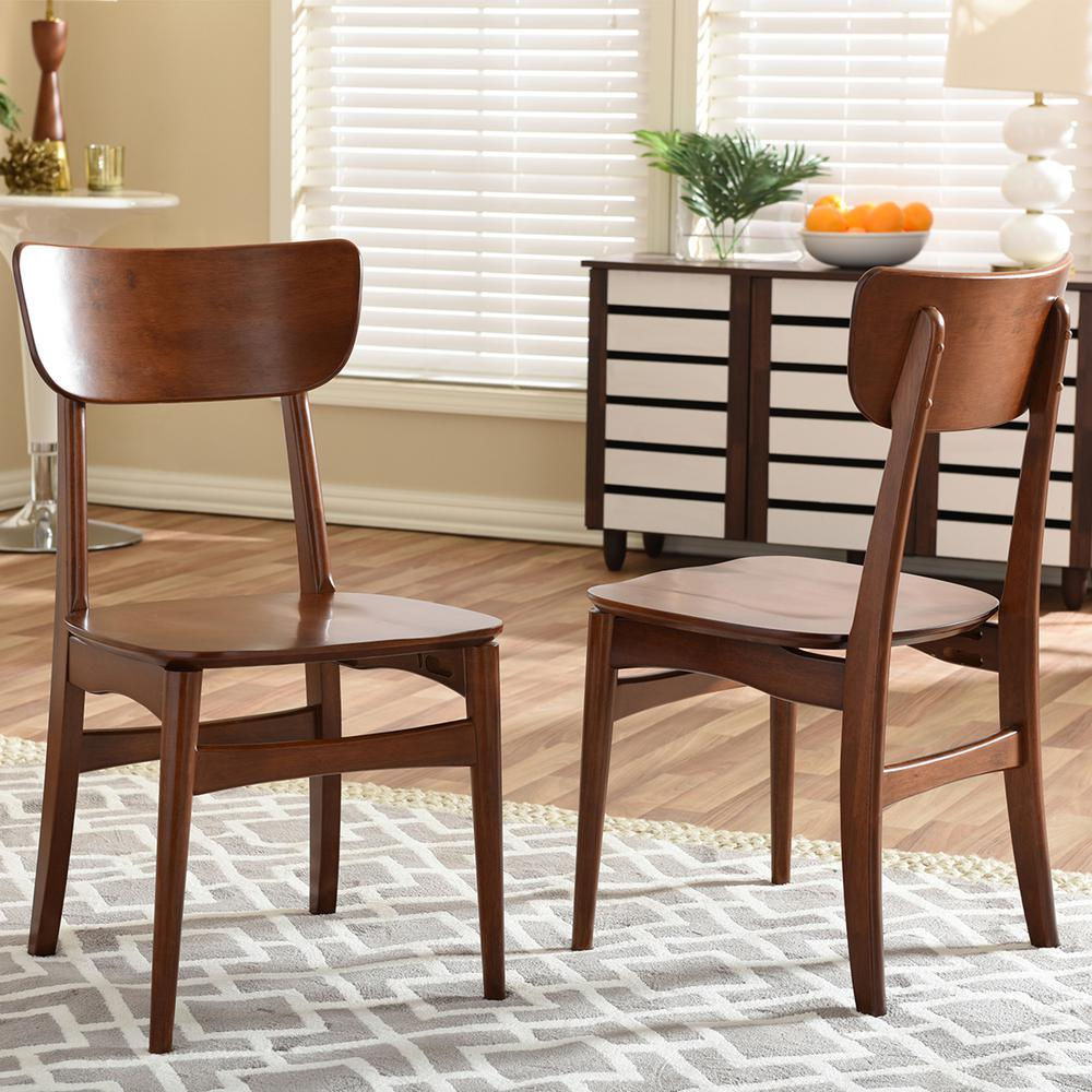 Netherlands Medium Brown Wood Dining Chairs (Set of 2)