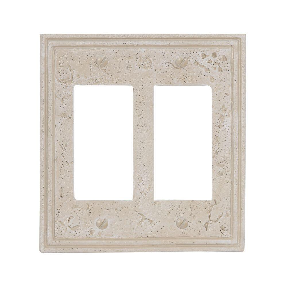 Texture Stone 2 Decora Wall Plate, Almond