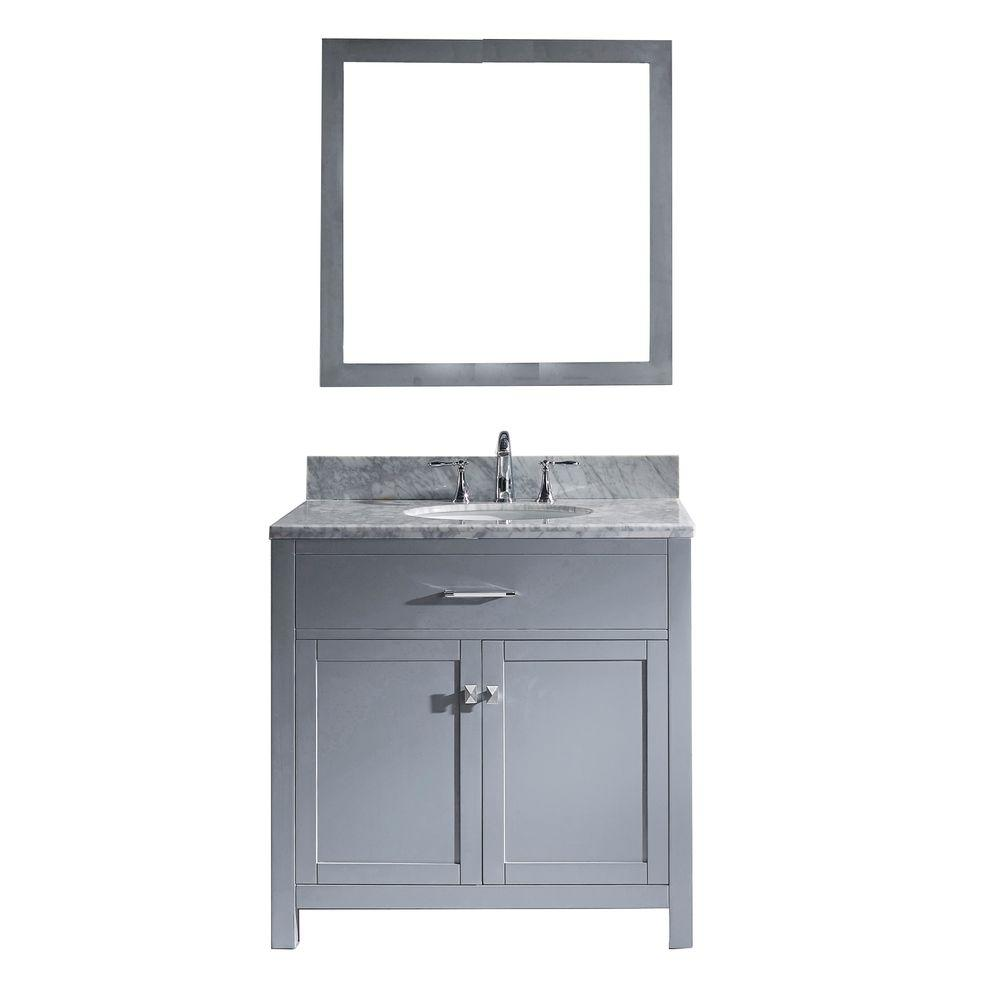 Caroline 36 in. W x 36 in. H Vanity with Marble