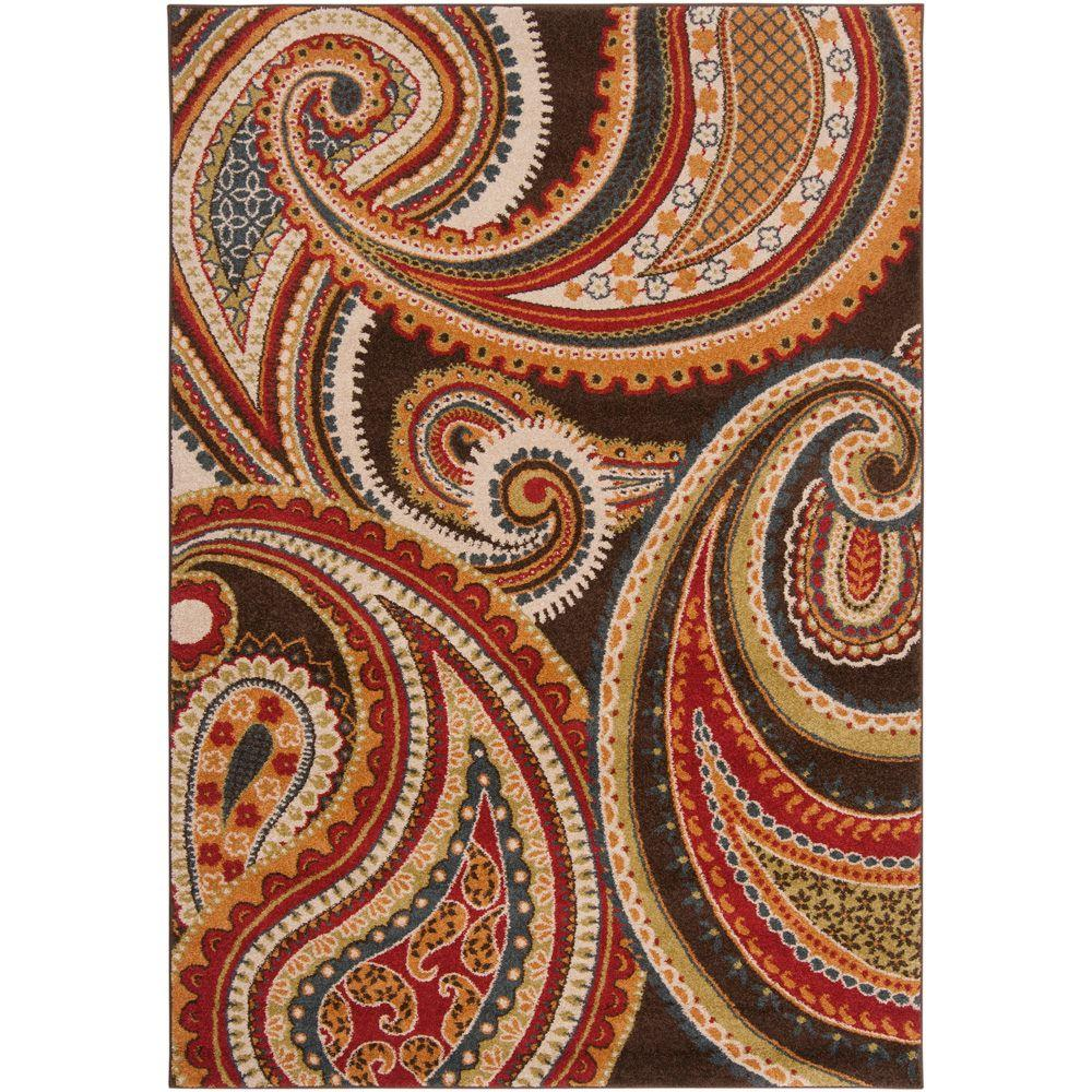 Artistic Weavers Caucete Blue 6 ft. 7 in. x 9 ft. 6 in. Area Rug