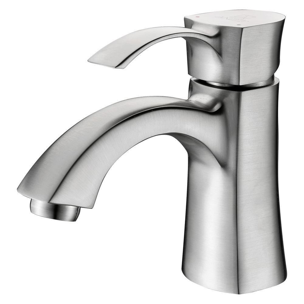 Alto Series Single Hole Single-Handle Mid-Arc Bathroom Faucet in Brushed Nickel
