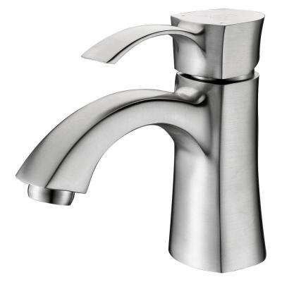Alto Series Single Hole Single-Handle Mid-Arc Bathroom Faucet in Brushed Nickel