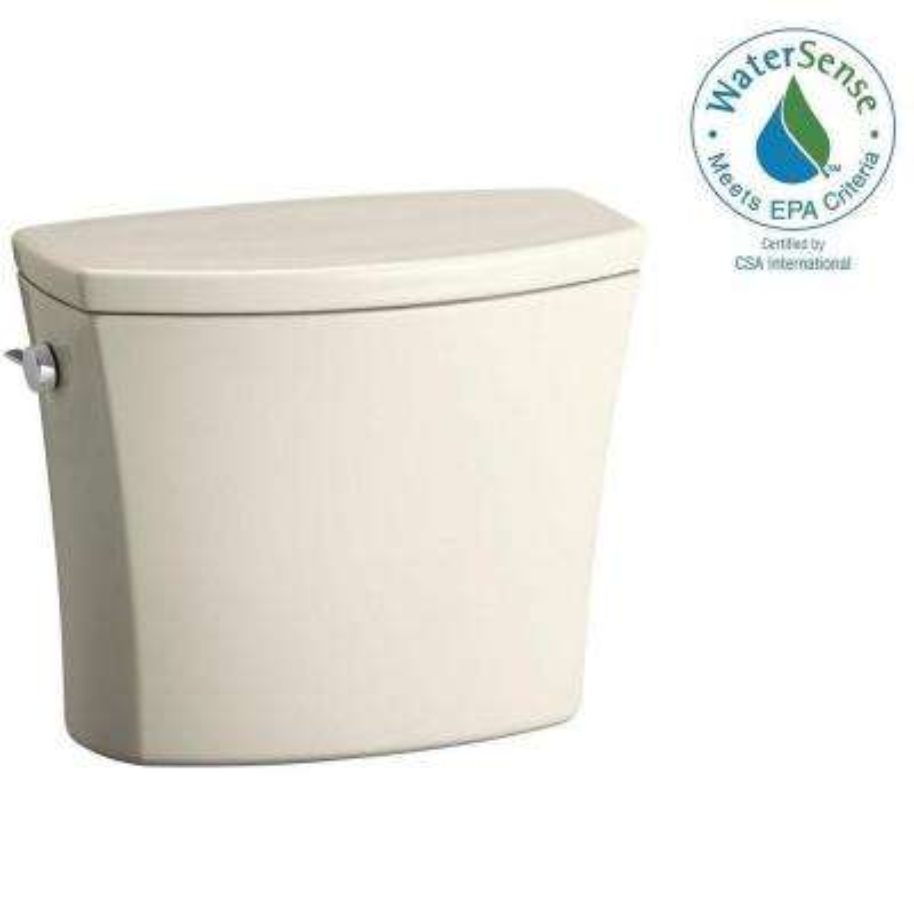 Kelston 1.28 GPF Single Flush Toilet Tank Only with AquaPiston Flushing Technology in Biscuit