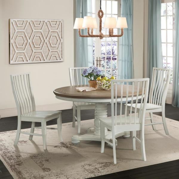 Cayman Brown White Cottage Dining Table