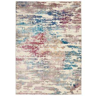 Entice Colorful Ivory/Multi-Color 5 ft. 3 in. x 7 ft. 3 in. Area Rug