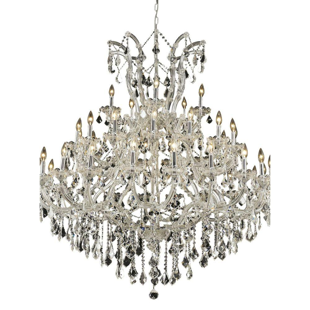 Elegant Lighting 41-Light Chrome Chandelier with Clear Crystal