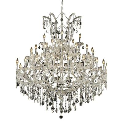 41-Light Chrome Chandelier with Clear Crystal