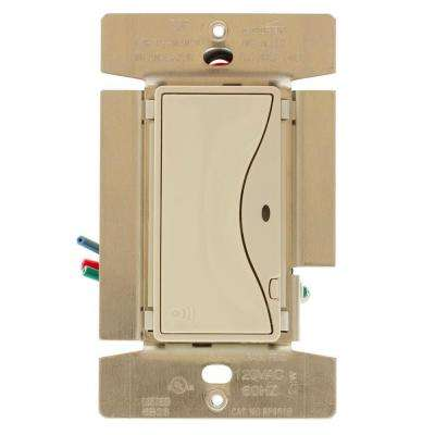 Aspire 8 Amp RF Single-Pole Wireless Light Switch, Desert Sand