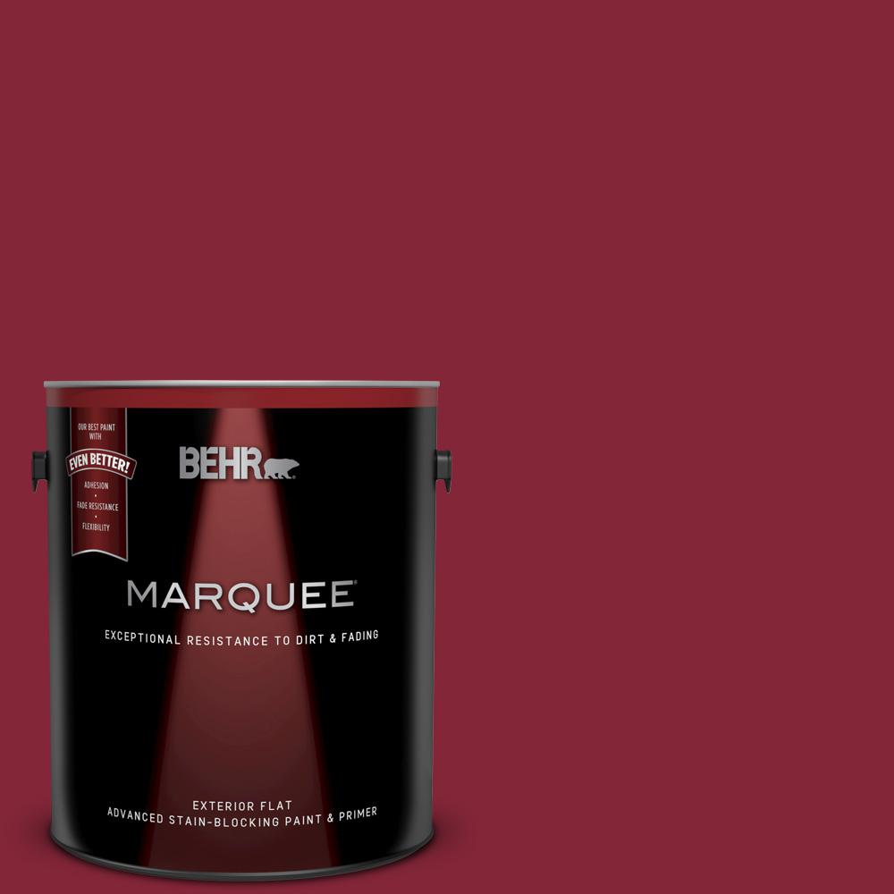 M140 7 Dark Crimson Flat Exterior Paint And Primer In One